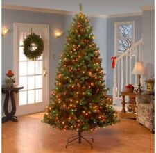 National Tree company: 7.5 ft Aspen Spruce Pre Lit Multicolor Christmas Tree New