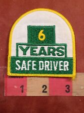 6 YEARS SAFE DRIVER Patch - Truck Driving Safety Yellow & Green & White C75L