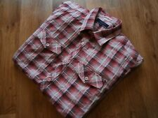 MEN'S TED BAKER 100% COTTON PLAID / CHECK SHIRT PINK SIZE S TED SIZE  2 VGC