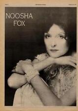 Noosha Fox UK LP advert 1977
