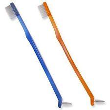 2 x Orthodontic Toothbrush ~ Orange & Blue ~ Small Head & Interdental for Braces
