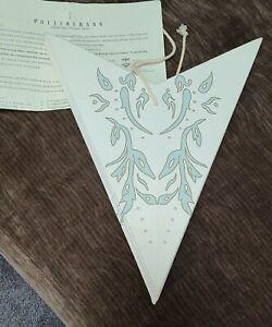 Pottery Barn Paper Star Pendant Lamp Kids Light  Blue