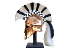 X-Mas Medieval Wearable Greek Corinthian Helmet Free Leather Liner Knight He