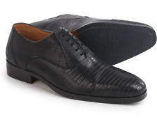 NEW STEVE MADDEN RIZZARD BLACK LEATHER OXFORD SHOES MENS 11 EMBOSSED LEATHER