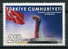 Turkey 2018 MNH Istanbul Airport 1v Set Flags Aviation Stamps
