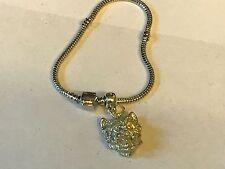 Westie's Head TG26 on a silver Rhodium Plated Snake Bracelet