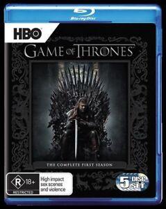 Game Of Thrones : Season 1 (Blu-ray, 2012, 5-Disc Set) Free Post