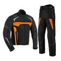 Motorradbekleidung Cordura Motorrad Jacke+Hose Motorradanzug Jacke ORANGE