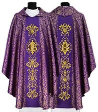 Purple Gothic Chasuble with matching stole 528-F14 us