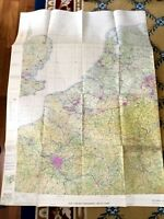 Vintage Military Map RAF Flight Navigation Chart Europe Cold War Era Air Force