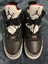 "Air Jordan Son of Low Black/University Red ""Black Cement' Sz 9.5 With OG BOX"