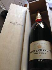 Moët Chandon 3 Liter Champagner Flasche Leer mit Holzkiste Deko Shisha Lampe