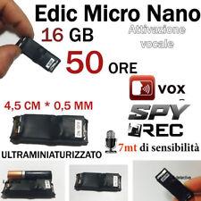 MICRO REGISTRATORE AUDIO VOCALE 16 GB SPY SPIA VOICE RECORDER AMBIENTALE USB