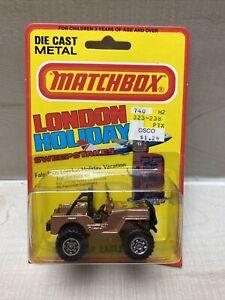 VTG Matchbox NO. 5 JEEP EAGLE 4x4 Rare Bronze Golden Eagle,1981 ON CARD ENGLAND