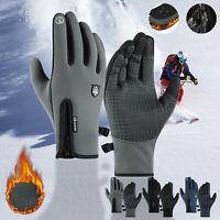 Men Outdoor Waterproof Windbreak Gloves Winter Screen Plus Velvet Gloves Y9