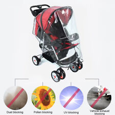 Universal Clear Baby Pushchair Pram Stroller Buggy Raincover Rain Cover Mad US
