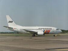SAS BOEING 737 LARGE PHOTO SE-DNL SCANDINAVIAN AIRLIN SYSTEM