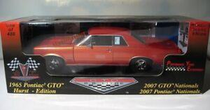 1965 Pontiac GTO  Performance Years 1:18  Hurst Edition   2007 Nationals  Orange