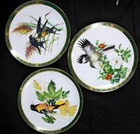 Danbury Mint SONGBIRDS OF ROGER TORY PETERSON 3 Collector Plates GREAT CONDITION
