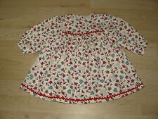 Schildkröt Puppen Kleid Leman weiß rot blau Künstlerpuppen Kleidung Puppenmode