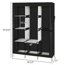 Ktaxon Wardrobe Armoire Closet ,Clothes Storage Rack 8 Shelves