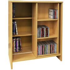 SLIDE - Media CD DVD Storage Bookcase / Display Shelves - Beech ZAS034153039