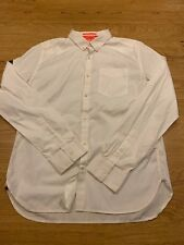 Large Mens Superdry Premium Button Down Long Sleeved Shirt in White 100% cotton