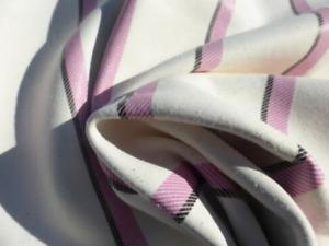 lambskin sheepskin leather hide skin Rose & Black Striped Print on White 5.5sf