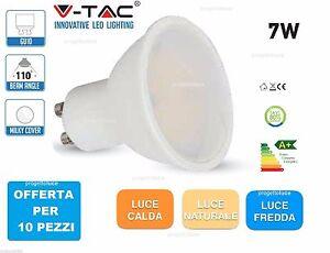 10 PEZZI LAMPADA LED FARETTO INCASSO V-TAC DRIWEI GU10 DA 7W SMD SPOTLIGHT