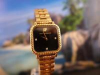 Elegant Girard Perregaux Ladies' Gold Plated Black Dial 21mm Handwind
