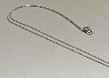 Sterling Silver Rhodium Plated Flat Cable Chain ONLY Length 46cm/18in