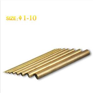20 Pcs ø1-10 Brass Round Bar,L=100mm, Used in Portable EDM/Tap Disintegrator