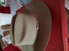 """Vintage """"John B Stetson """"4X Beaver Cowboy Hat """"Silver Belly� Size 7 1/4 W/Box"""