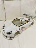 TAMIYA/kyosho Porsche 996/911 Body Shell 1/10 Rc  (damaged)