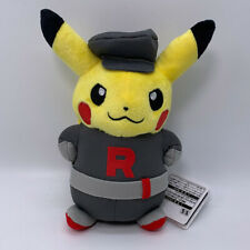Pokemon Pikachu Cosplay in Team Rocket Plush Soft Toy Doll Teddy 8.5""
