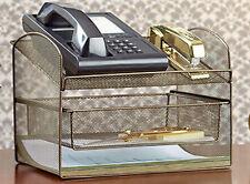 Desktop Organizer Home School Office Supplies Holder Desk Table Filing Bronze