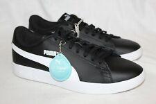 NEW PUMA Men's Smash v2 Leather Sneaker Black 374513 04 Sz 11