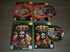 Star Wars Knight Old Republic 2 & Dungeon Dragons Heroes CIB VERY GOOD COND Xbox