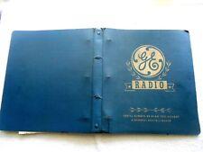 GE RADIO SALESMAN CATALOG-1935-1941--50 -RADIO PHONOGRAPHS-CONSOLES-TABLE MODELS