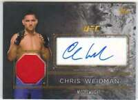 2016 Topps UFC Top of the Class Autograph Fighter Relic AUTO CW Chris Weidman