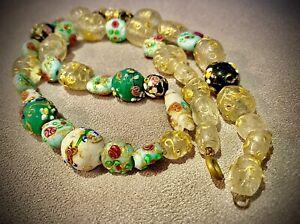 Très Beau  Collier Ancien Necklace Perle De Murano Venise ENVOI INTERNATIONAL