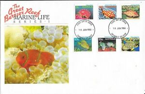 Great Barrier Reef -Marine Life Series 1 - FDC. 18.06.84