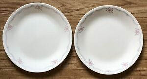 """Correlle by Corning Pair of English Breakfast 10 1/4"""" Glass Dinner Plates"""