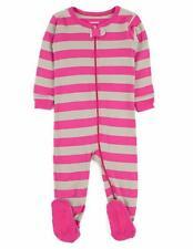 Leveret Striped Baby Girls Footed Pajamas Sleeper 100% Cotton Kids & Toddler