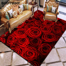 3D printing carpet rose flower carpet multicolor wedding non-slip living room