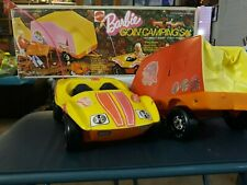 Vintage Barbie breezy buggy & tent trailer 1973 Mattel with box not complete