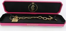 "Juicy Couture Starter Charm Bracelet Gold Tone 7"" In Box"