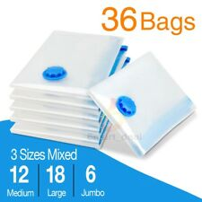36x Mixed 3 Size Vacuum Storage Bags Saver Seal Compressing Space Saving Experts