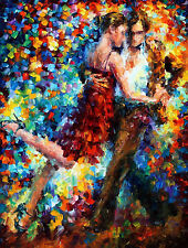 "Tango Of Triumph —  Oil Painting On Canvas By Leonid Afremov. 30""x40"" Dance"