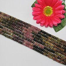 Tourmaline 5x8mm multicolore Cercle Perles 1 Fil